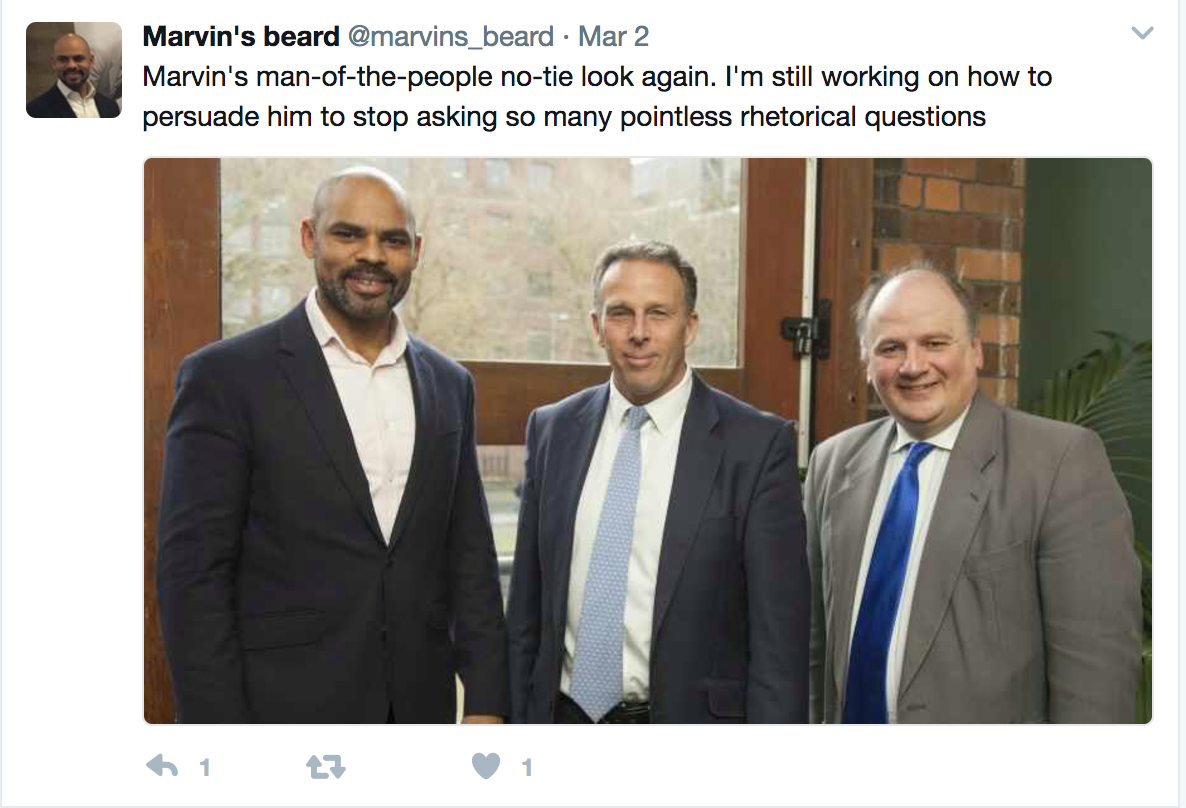 Marvin Rees' beard twitter account