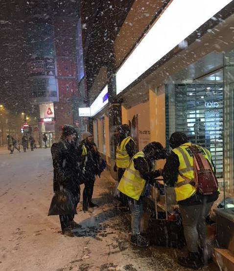 Homeless Project Manchester on the streets in the snow