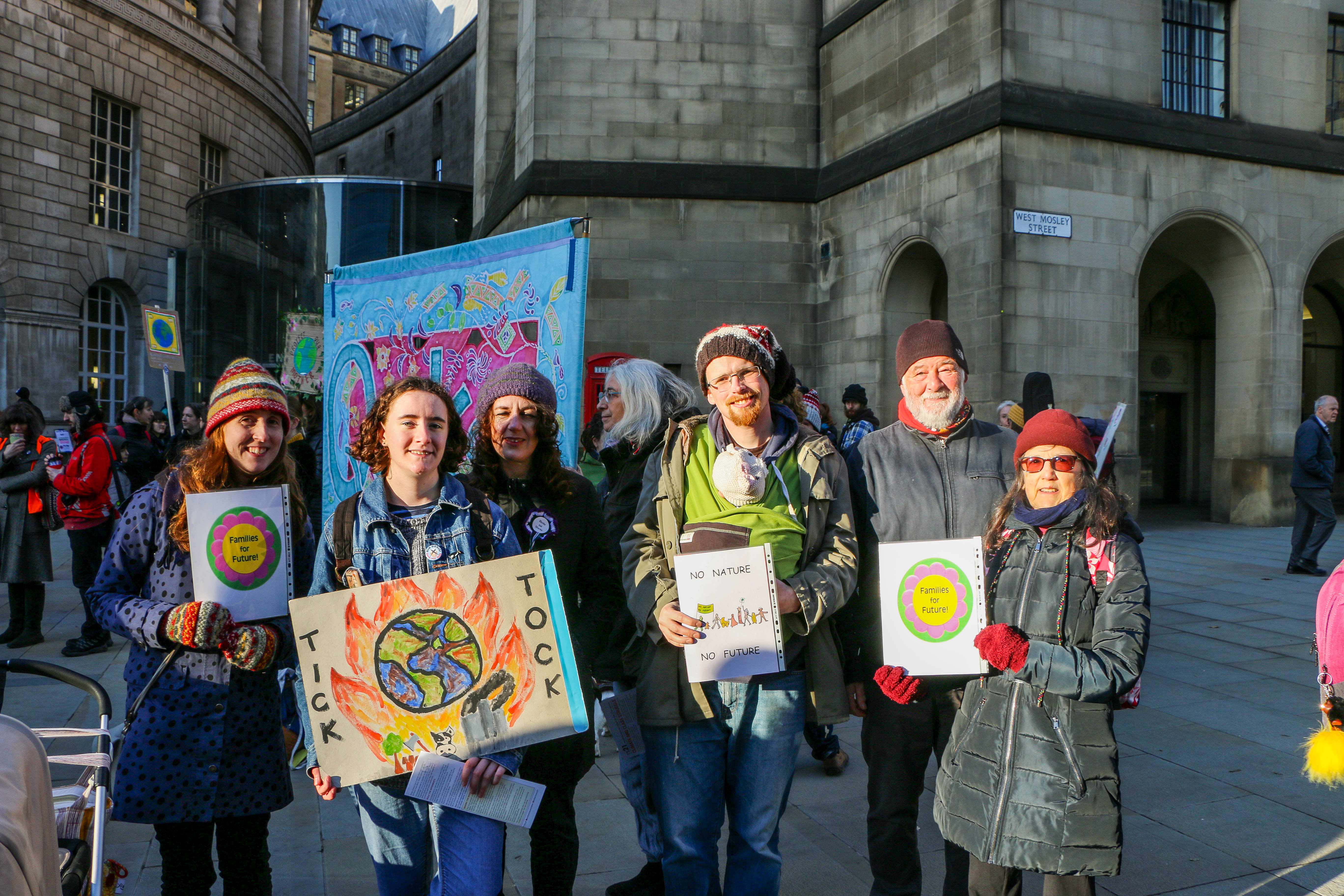 climate protesters, manchester, climate strike, climate change, strike, protest