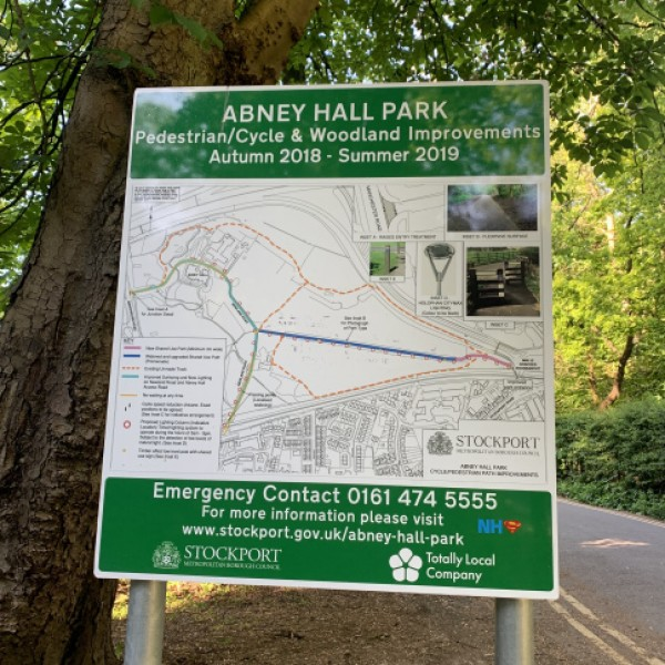 Abney Hall cycle paths