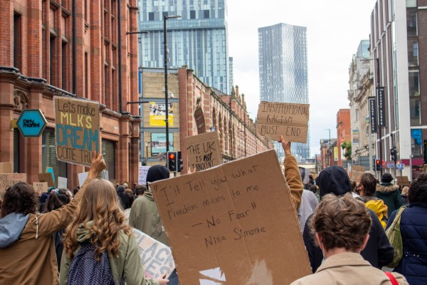 BLM March through Deansgate