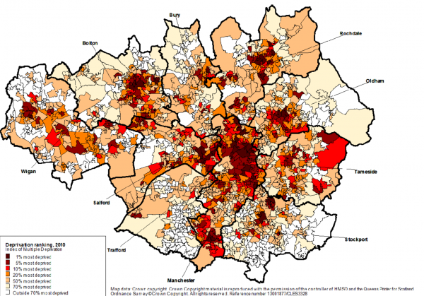 geography of deprivation Manchester 2012 poverty report