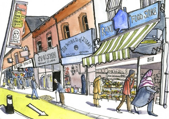 The Curry Mile of Rusholme by Len Grant