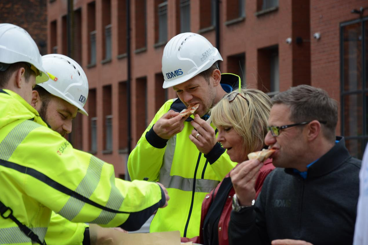 Mental Health Charity In Salford Are Handing Out Free Pizza To Get Construction Workers Talking About Mental Health The Northern Quota